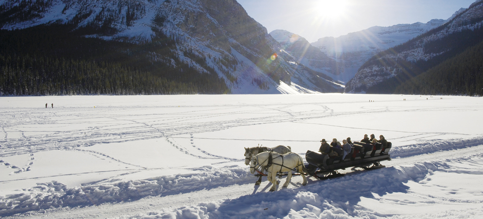 Sleigh Ride at Lake Louise