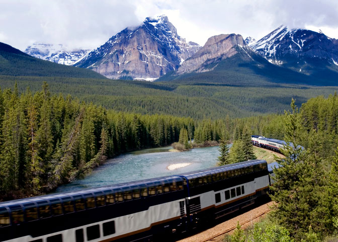 Rocky Mountaineer, a Canadian tour company, operates North America's busiest privately owned passenger train and has carried over a million travellers since 1990. None of the coaches contain beds and the train schedules only run during daylight hours. This allows passengers to fully experience the magnificent landscape as they travel across regions that cannot be traversed by any other means.